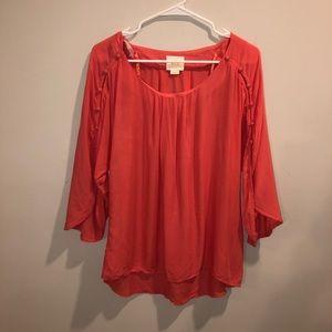 Anthropologie Maeve Pink Summer Long Sleeve Shirt